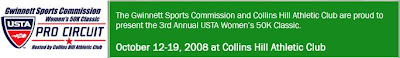 Black Tennis Pro's Gwinnett Sports Commission Women's USTA Pro Classic