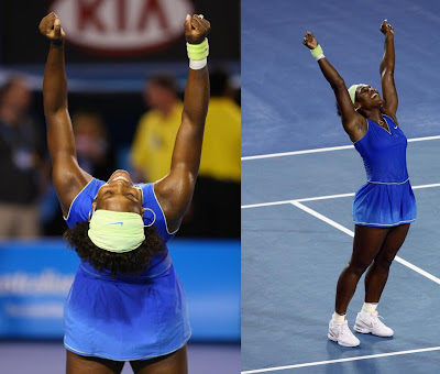 Black Tennis Pro's Serena Williams Australian Open Final
