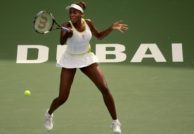 Black Tennis Pro's Venus Williams Barclays Dubai Tennis Championships