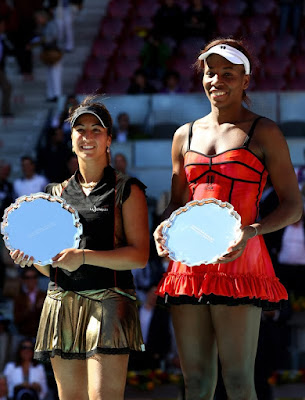 Black Tennis Pro's Venus Williams and Aravane Rezai Mutua Madrilena Madrid Open Final