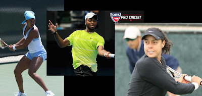 Black Tennis Pro's Los Angeles Open Donald Young, Angela Haynes, Alexandra Stevenson