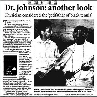Black Tennis Pro's Dr. Robert W. Johnson 2009 International Tennis Hall Of Fame