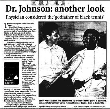 Black Tennis Pro's Dr. Robert W. Johnson 2009 International Tennis Hall Of Fame