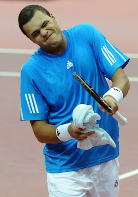 Black Tennis Pro's Jo-Wilfried Tsonga 2009 Davis Cup