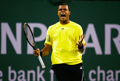 Black Tennis Pro's Jo-Wilfried Tsonga BNP Paribas Open