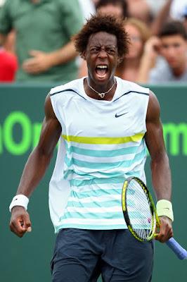 Black Tennis Pro's Gael Monfils Sony Ericsson Open