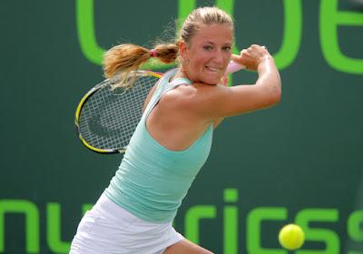 Black Tennis Pro's Victoria Azarenka Sony Ericsson Open Semifinal