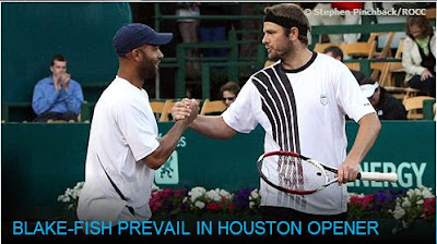 Black Tennis Pro's James Blake and Mardy Fish Houston Clay Court Championships