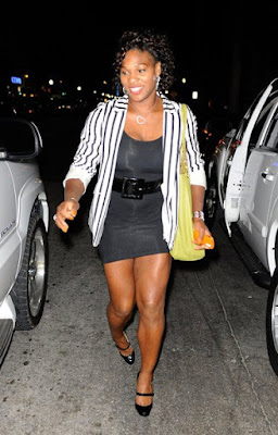 Black Tennis Pro's Serena Williams On The Scene In Miami