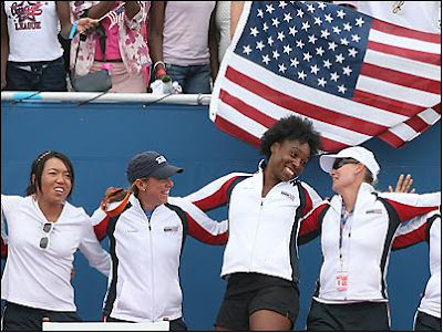 Black Tennis Pros Venus Williams 2007 Fed Cup Team