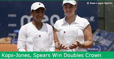 Black Tennis Pro's Raquel Kops-Jones and Abilgail Spears Estoril Open Doubles Champions