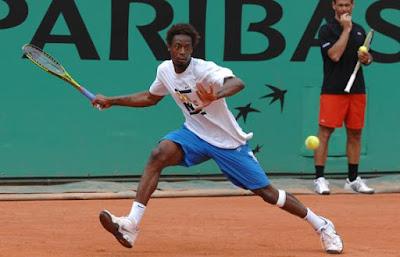 Black Tennis Pro's Gael Monfils Roland Garros