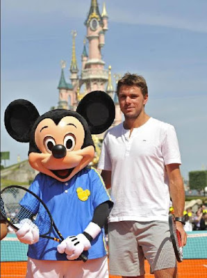 Black Tennis Pro's Mickey Mouse and Stanislas Wawrinka Disneyland Paris