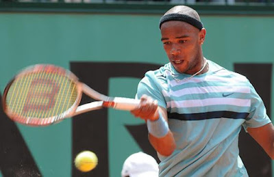 Black Tennis Pro's Josselin Ouanna 2009 French Open