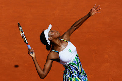 Black Tennis Pro's Venus Williams 2009 French Open Round 1
