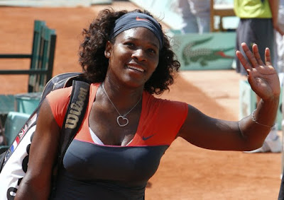 Black Tennis Pro's Serena Williams 2009 French Open