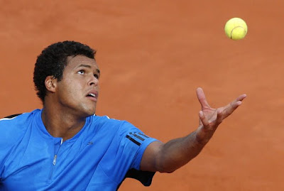 Black Tennis Pro's Jo-Wilfried Tsonga 2009 French Open