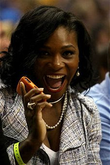 Black Tennis Pro's Serena Williams 2009 NBA Final Lakers and Orlando Magic