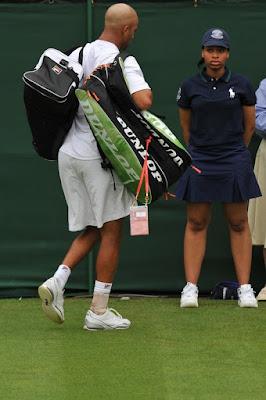 Black Tennis Pro's James Blake 2009 Wimbledon Day 1