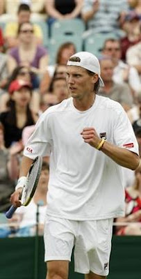 Black Tennis Pro's Andreas Seppi 2009 Wimbledon Day 1