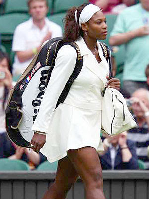 Black Tennis Pro's Serena Williams 2009 Wimbledon