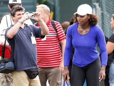 Black Tennis Pro's Serena Williams Wimbledon Day 1 Warmup