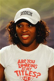Black Tennis Pro's Serena Williams 2009 Wimbledon Champion