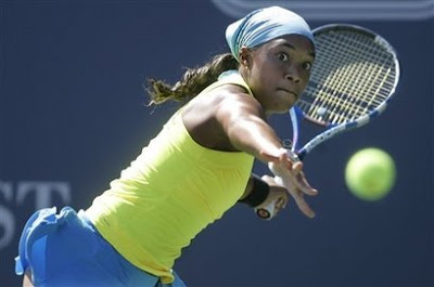 Black Tennis Pro's Angela Haynes 2009 Bank Of The West Classic Round 1