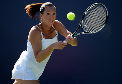 Black Tennis Pro's Jelena Jankovic 2009 Bank Of The West Classic Round 1