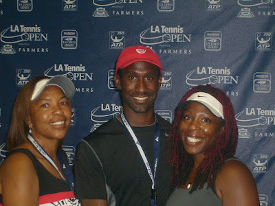 Black Tennis Pro's Jasmyne Cannick, Ronita Elder and Rodney Marshall