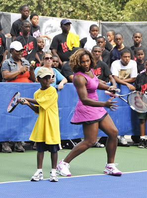 Black Tennis Pro's Serena Williams 2009 Nike Tennis Challenge, New York