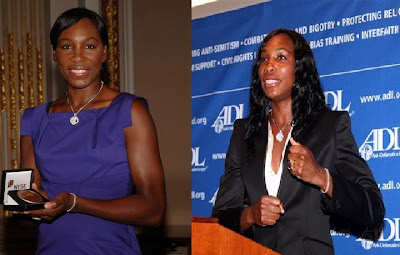 Black Tennis Pro's Venus Williams at New York Stock Exchange and Anti Defamation League