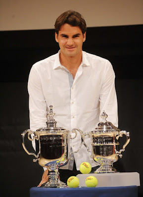 Black Tennis Pro's Roger Federer at 2009 U.S. Open Draw Presentatio