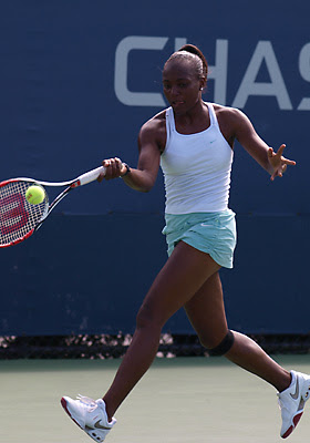 Black Tennis Pro's Shenay Perry Round 2 of 2009 U.S. Open Qualifying