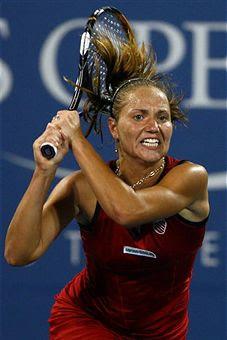 Black Tennis Pro's Kateryna Bondarenko 2009 U.S. Open Round 2