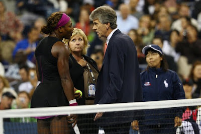 Black Tennis Pro's Serena Williams vs. Kim Clijsters 2009 U.S. Open Semifinal Match