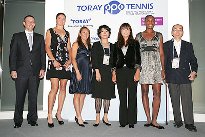 Black Tennis Pro's Venus Williams, Dinara Safina, Ai Sugiyama and Ayumi Morita Pan Pacific Open Press Conference