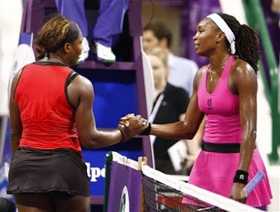 Black Tennis Pro's Venus and Serena Williams 2009 Sony Ericsson Championships