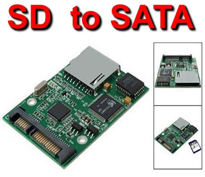 nbeys sd sdhc mmc to sata adapter converter computer hdd. Black Bedroom Furniture Sets. Home Design Ideas