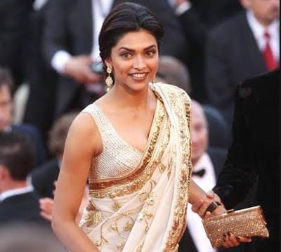 Deepika Padukone in saree at cannes