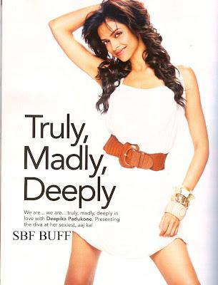 Deepika Padukone filmfare magazine photoshoot