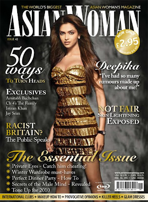 Deepika Padukone on AsianWoman Magazine