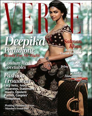 Deepika Padukone on the cover of Verve september 2010