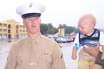 Our Marine and his son