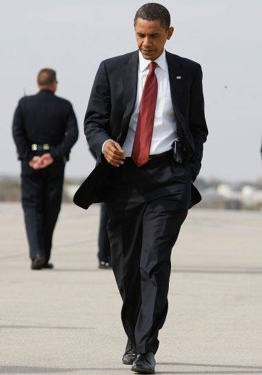 obama in  a suit