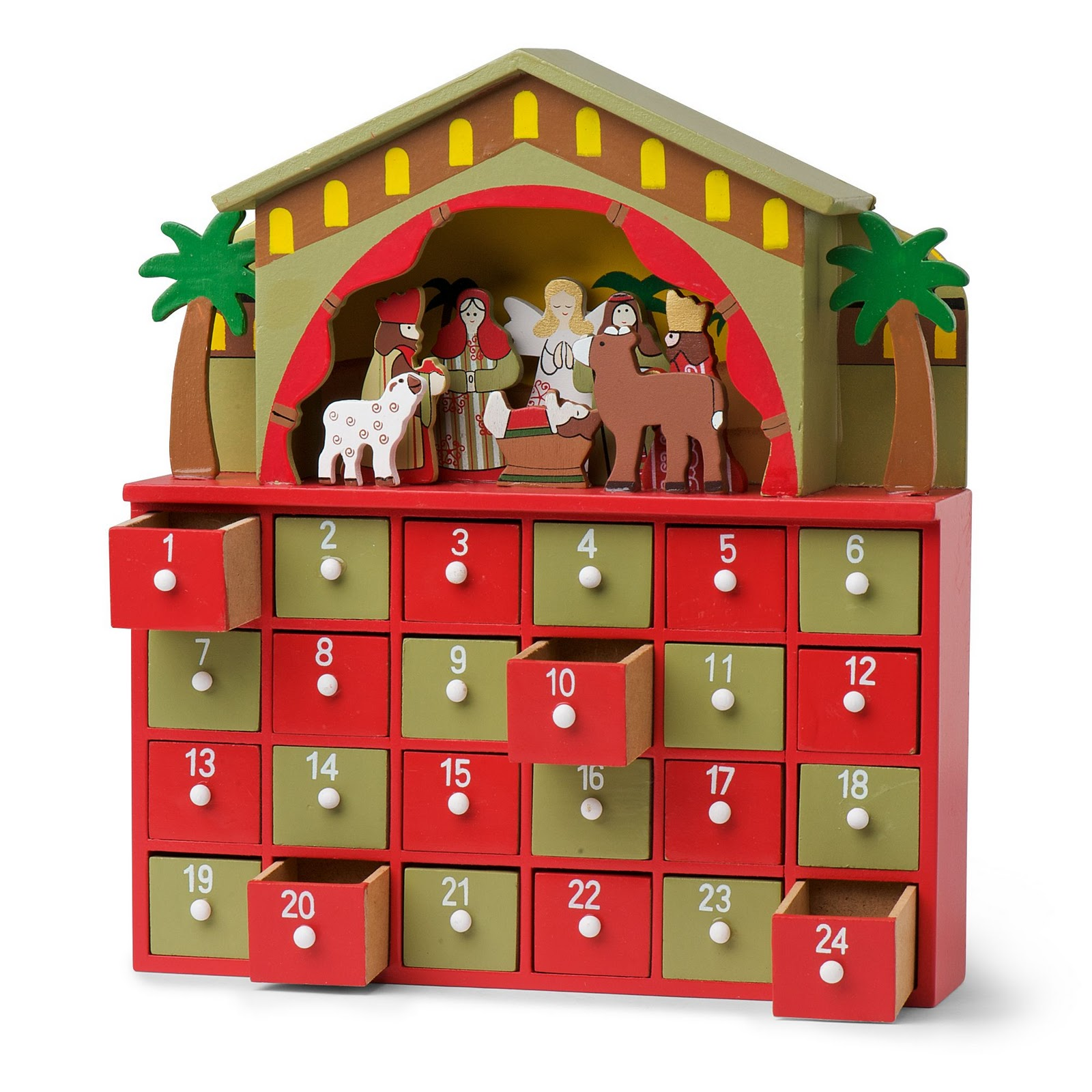 Wooden Nativity Advent Calendar | Calendar Template 2016