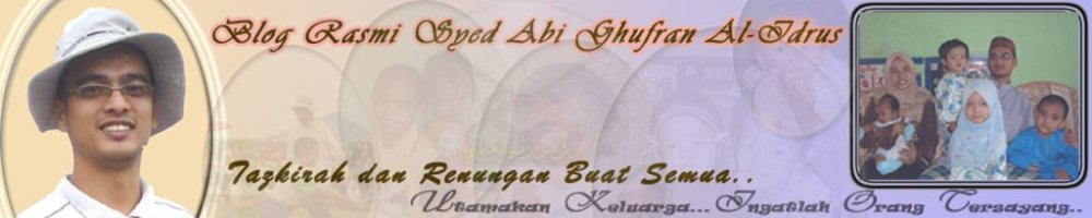 Blog Rasmi YM Syed Abi Ghufran Al-Idrus