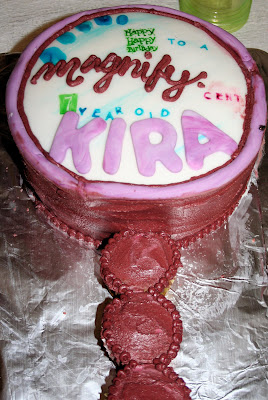 Nancy Drew Cake Ideas http://meandmyinsanity.com/2008/05/nancy-drew-party-magnifying-glass-cake.html