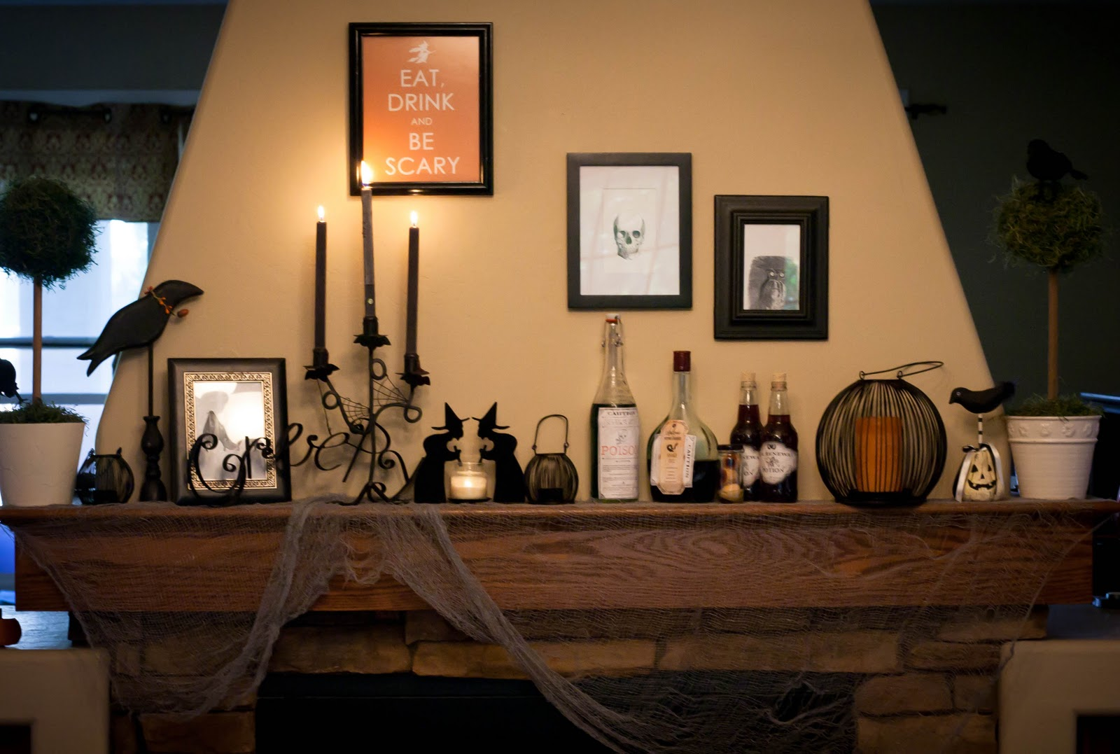 My Halloween Mantle And Other Creepy Decor My Insanity