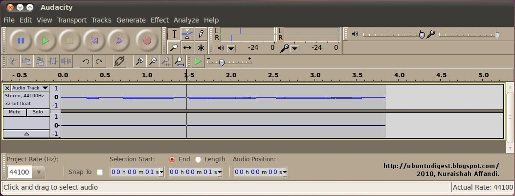 audacity how to change stereo to mono